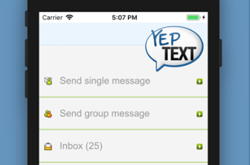 YepText Group Text Messaging mobile app